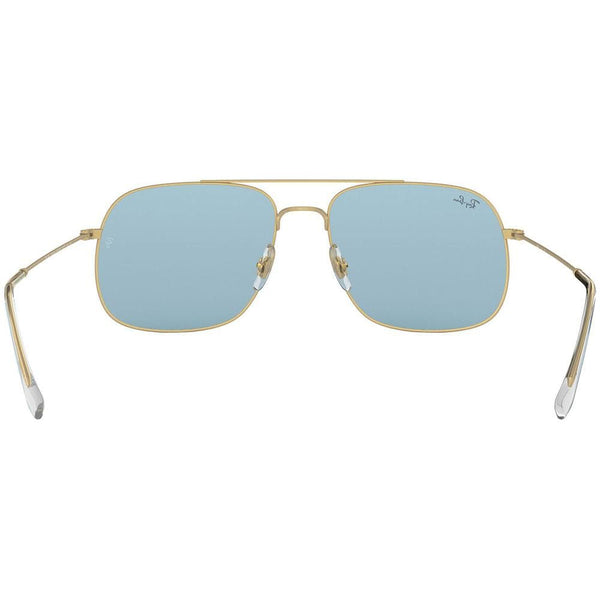 Ray-Ban Sunglasses RB3595 901380 56  Gold Frame Light Blue Classic Lens