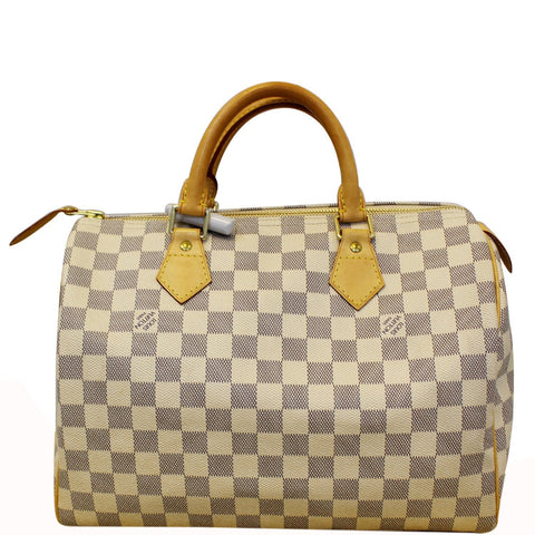 LOUIS VUITTON Speedy 30 Damier Azur Satchel Handbag