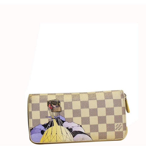 LOUIS VUITTON Damier Azur Canvas Illustre Zippy Wallet Limited