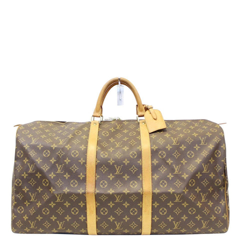 LOUIS VUITTON Monogram Canvas Brown Keepall 60 Travel Bag