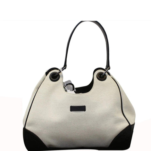GUCCI Colbert Canvas Shoulder Bag White
