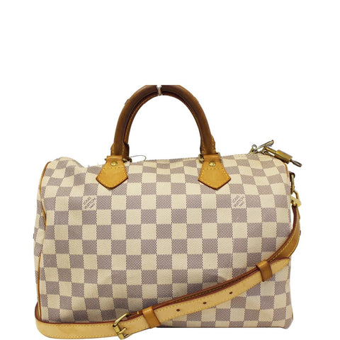 LOUIS VUITTON Damier Azur Speedy 30 Bandouliere Satchel Bag