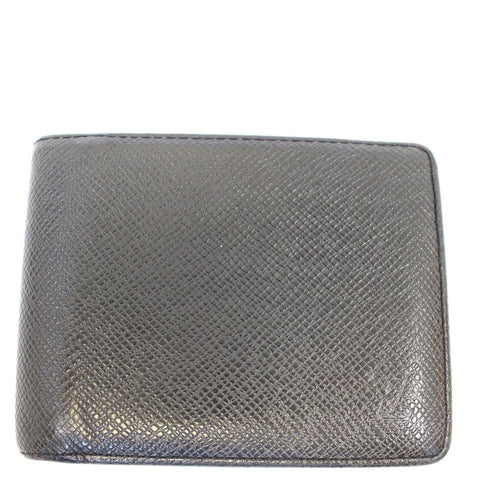 LOUIS VUITTON Slate Taiga Billfold Black Wallet - Sale