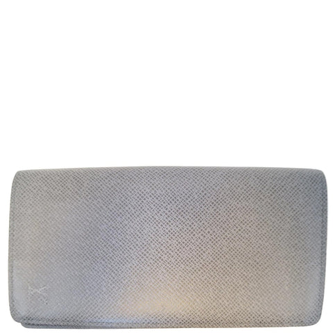 LOUIS VUITTON Brazza Glacier Taiga Leather Wallet