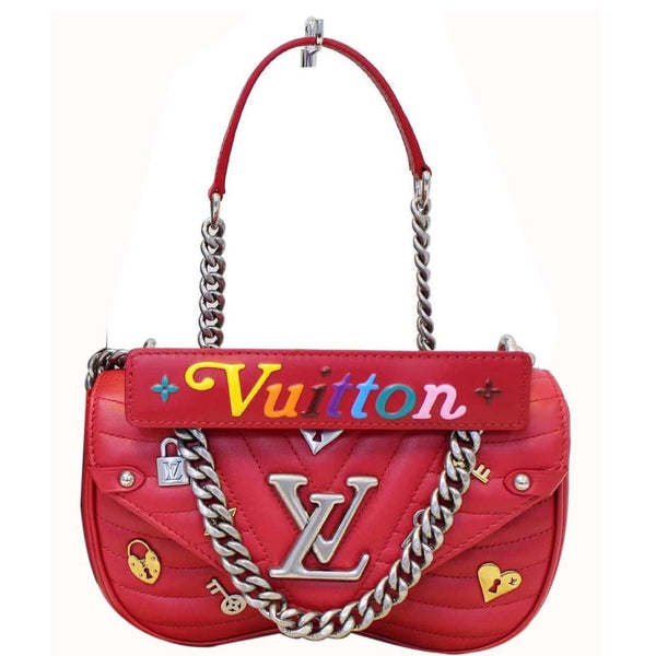 LOUIS VUITTON Love Lock New Wave PM Chain Shoulder Bag
