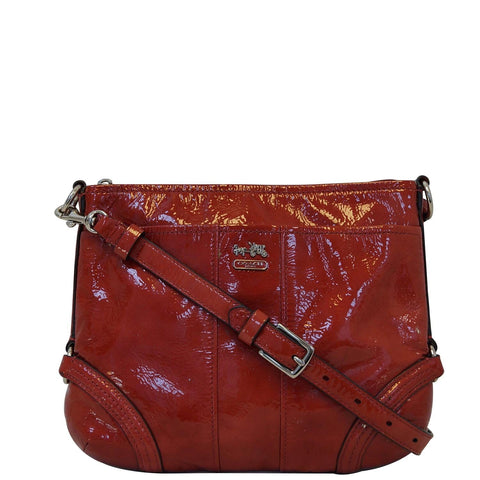 COACH Chelsea Paprika Red Patent Leather Katarina Crossbody Bag - Sale
