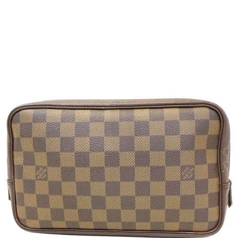 LOUIS VUITTON Damier Ebene Trousse Toilette Cosmetic Pouch - Sale