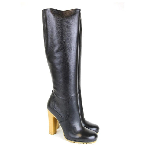 Gucci 323548 Leather Stivale Pelle Luxor Tall Knee Boot IT 37 / US 7 - Sale