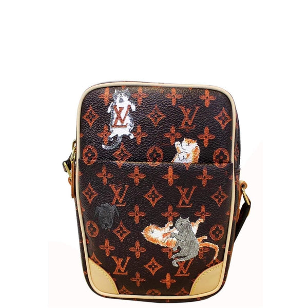 LOUIS VUITTON Paname Monogram Grace Coddington Catogram Shoulder Bag