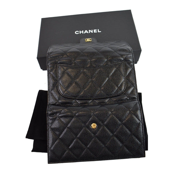 Chanel Large Flap Quilted Caviar Leather bag Black