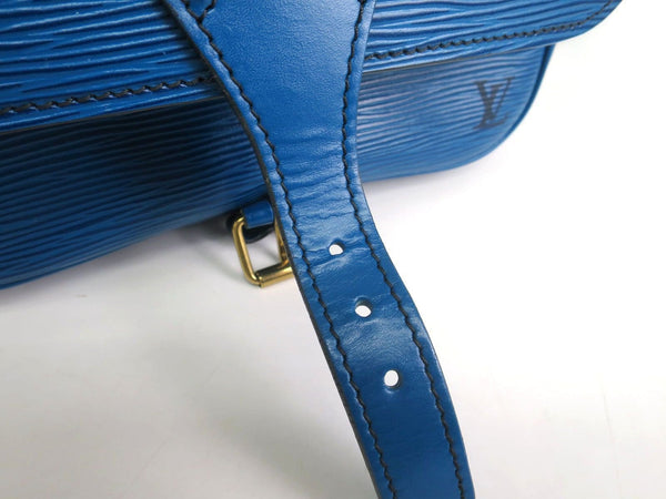 LOUIS VUITTON Cartouchiere Epi Leather Blue Toledo Shoulder Bag