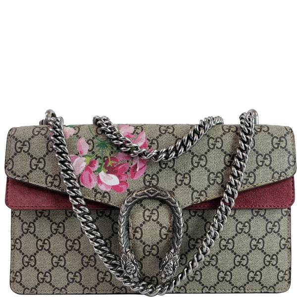 GUCCI Dionysus Small GG Blooms Shoulder Bag Beige 400249