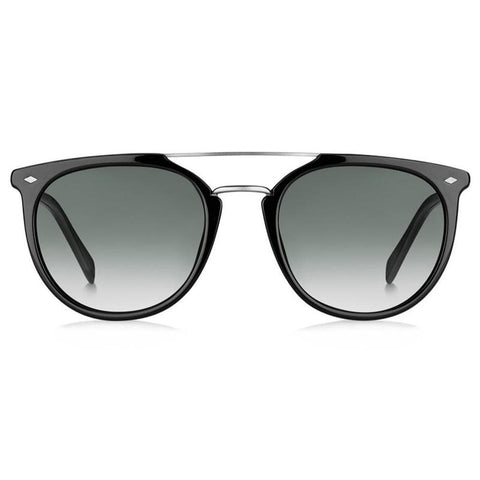 FOSSIL FOS 3077/S 807 53 Pilot Black Sunglasses Grey Lens