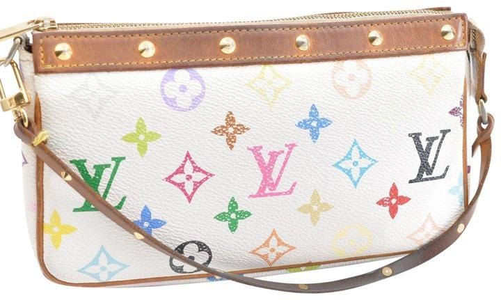 Louis Vuitton Pochette Accessoires White Monogram Multicolor Canvas Sh d3185b3ab8cd0