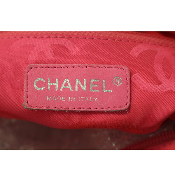 Chanel Tote Bag Cambon Small Quilted Leather logo