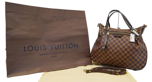 LOUIS VUITTON Evora MM Damier Ebene Tote Excellent Shoulder Bag