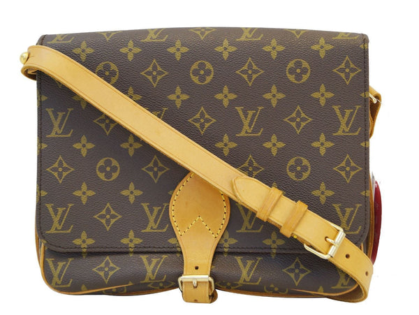 Authentic LOUIS VUITTON Monogram Cartouchiere GM Shoulder Bag TT1233