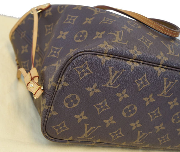 Authentic LOUIS VUITTON Monogram Canvas Pivoine Neverfull PM Tote Bag TT1207