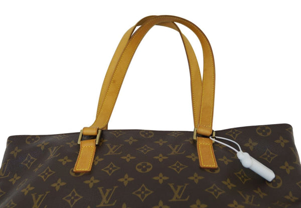 Authentic LOUIS VUITTON Monogram Canvas Cabas Mezzo Brown Tote Bag TT1144