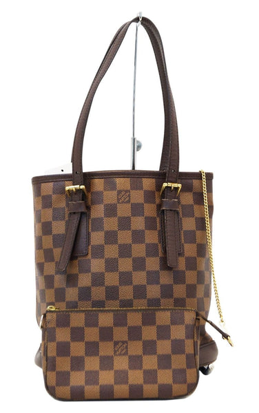 074bc27c8effe LOUIS VUITTON Damier Ebene Brown Marais Bucket Bag