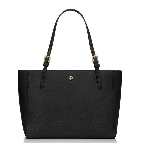 TORY BURCH York Black Leather Tote Small Bag