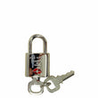 Louis Vuitton TSA Lock and Key Set Silver Number 007