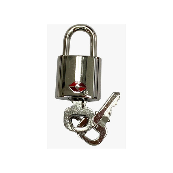 Louis Vuitton TSA Lock and Key Set Silver toned