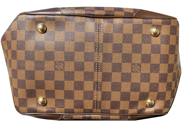 brass studs Lv Verona MM Damier Ebene Satchel Bag