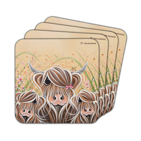 Jennifer Hogwood, The McMoos, Bow Peeps - Coasters