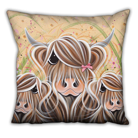 Jennifer Hogwood, The McMoos, Bow Peeps - Suede Cushions