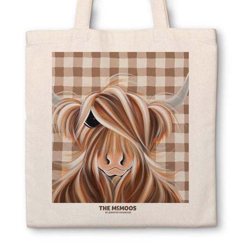 Jennifer Hogwood, The McMoos, Check moo out - Canvas Bag