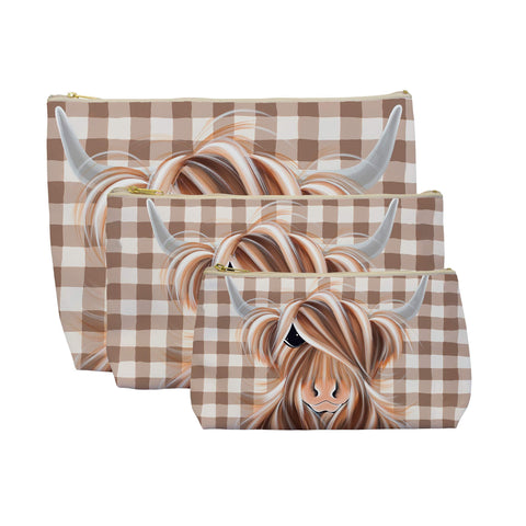 Jennifer Hogwood, The McMoos, Check Moo Out - Makeup / Wash Bags