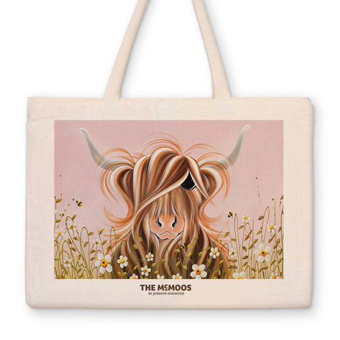 Jennifer Hogwood, The McMoos, Daisy - Canvas Bag