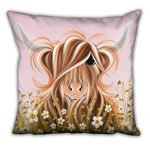 Jennifer Hogwood, The McMoos, Daisy - Suede Cushions