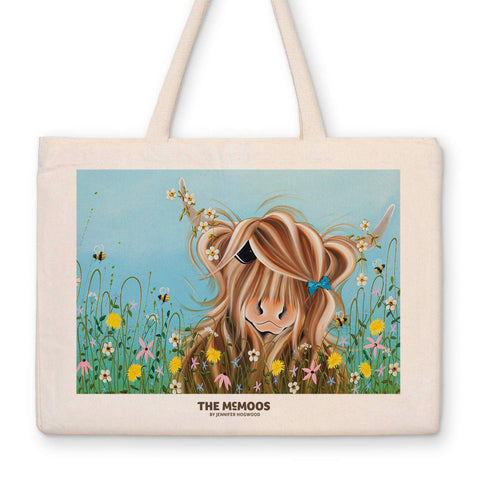 Jennifer Hogwood, The McMoos, Dandelion - Canvas Bag