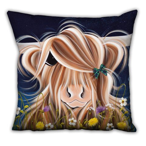 Jennifer Hogwood, The McMoos, Evening Highland - Suede Cushions