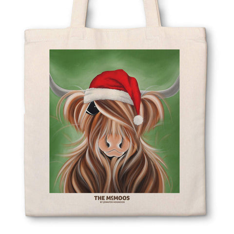 Jennifer Hogwood, The McMoos, Father Christmoos - Canvas Bag