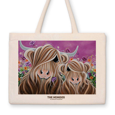 Jennifer Hogwood, The McMoos, Fields of love - Canvas Bag