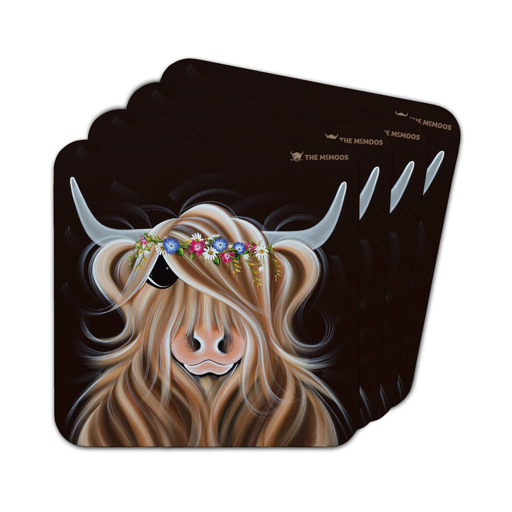 Jennifer Hogwood, The McMoos, Flora - Coasters