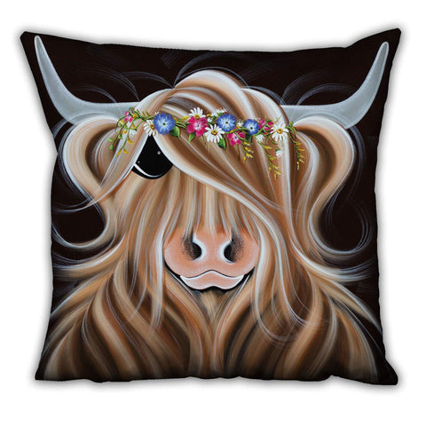 Jennifer Hogwood, The McMoos, Flora - Suede Cushions