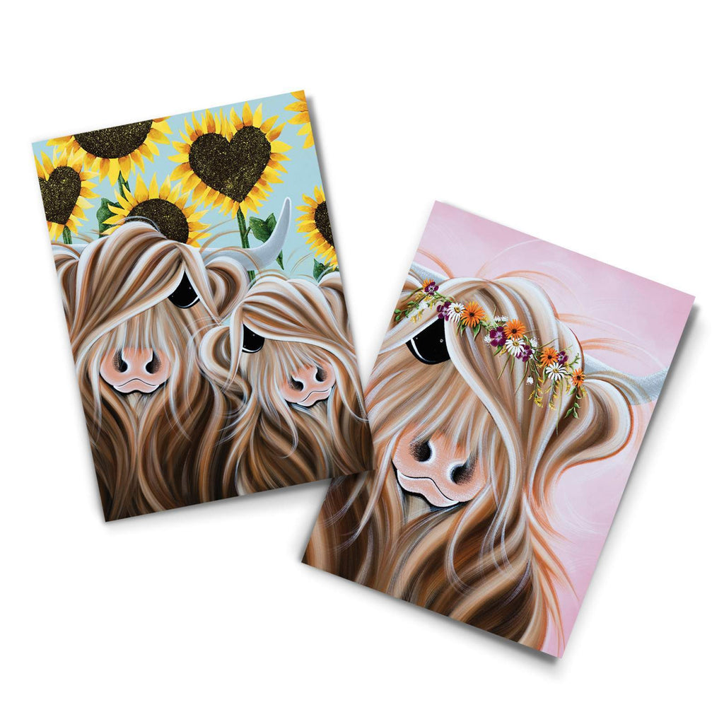 Jennifer Hogwood, The McMoos, Flowers notecards - Pack of 4