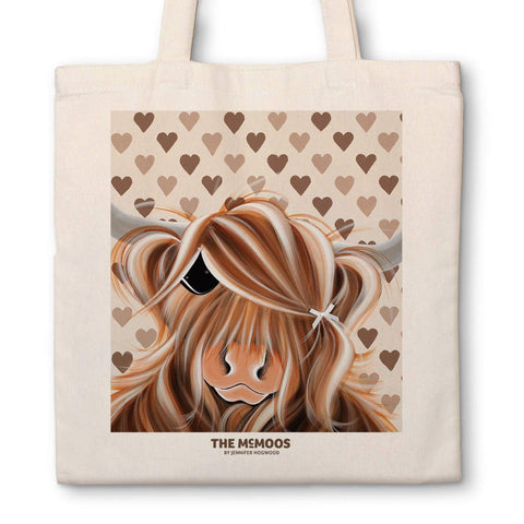 Jennifer Hogwood, The McMoos, I Love Moo - Canvas Bag