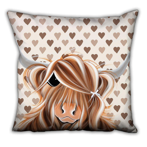 Jennifer Hogwood, The McMoos, I Love Moo - Suede Cushions