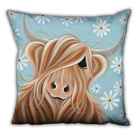 Jennifer Hogwood, The McMoos, Little Miss Daisy - Suede Cushions