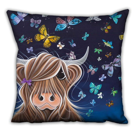 Jennifer Hogwood, The McMoos, Night Flight - Suede Cushions