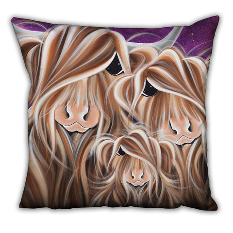 Jennifer Hogwood, The McMoos, Stars In The Highland - Suede Cushions