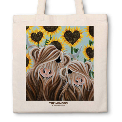 Jennifer Hogwood, The McMoos, Sunflower - Canvas Bag