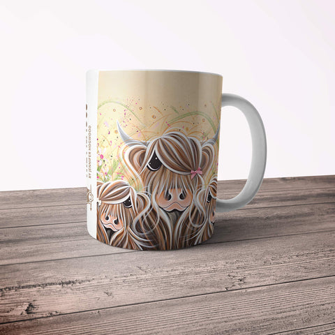 Jennifer Hogwood, The McMoos, Bow Peeps - 11oz Ceramic Mug