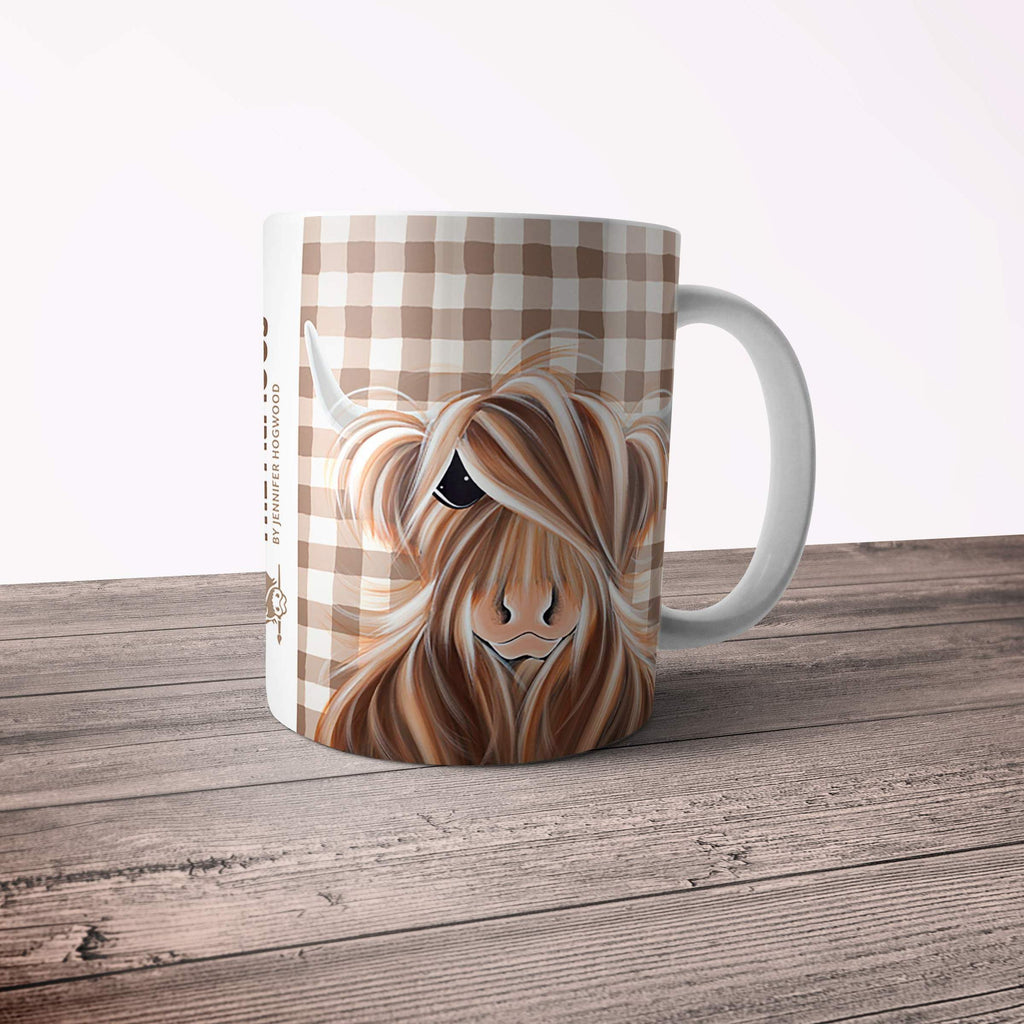 Jennifer Hogwood, The McMoos, Check Moo Out - 11oz Ceramic Mug