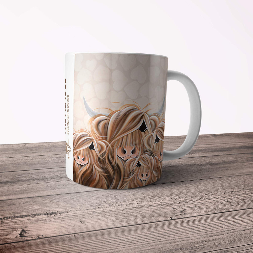 Jennifer Hogwood, The McMoos, Fa-Moo-Ly Forever - 11oz Ceramic Mug